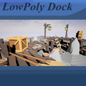 A Pack of 27 LowPoly Dock Props
