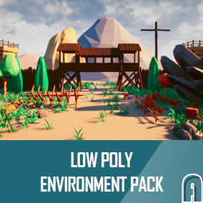 Low poly environment pack, contains a large number of asset for creating low poly environment.