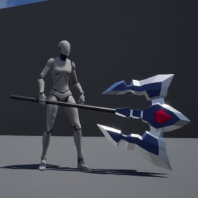 15 Epic Low Poly Fantasy Axes
