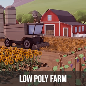 Package contains over 270 models to build your low poly farm.