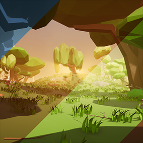 An asset pack designed to be the only thing you need to create your very own low poly forest.