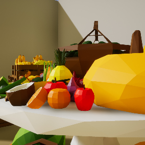 All your favorite low poly fruits and vegetables in one convenient pack!