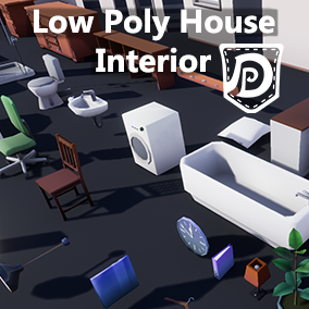 Assets to build up a house interior. The assets are highly optimized and fit ideally for VR and Mobile Projects. They are lowpoly and contain assets for a kitchen living- bath- and bedroom plus a modular set to build walls with doors and windows.
