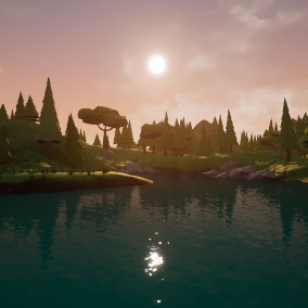 Simple, easy to use, Low Poly Master Material with Foliage