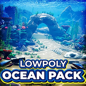 The Low-Poly Ocean Pack contains everything you need for for stylized high-performance gaming experience!