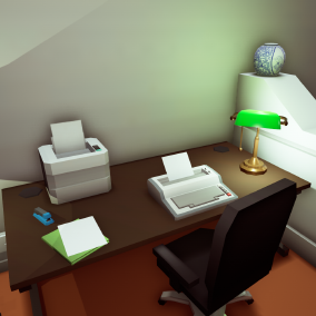 Over 270 Office props in a Low Poly style perfect for Mobile and VR.