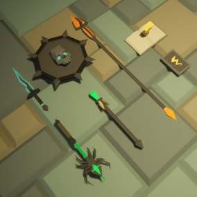 Low Poly - Mage Weapons