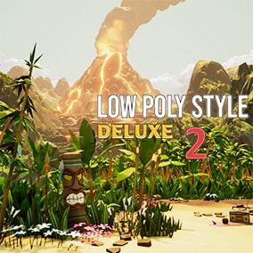 A deluxe low poly style tropical environment pack perfect for creating stylized fantasy worlds. Includes everything needed to make beautiful tropical islands, and includes a complete pirate ship!