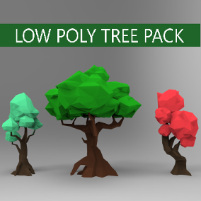 3D Low poly pack, 12 differents trees.