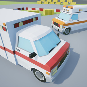 Assets with a low poly style composed of 2 different drivable cars, which you can use in your video game. Different textures have been included to create 4 variations.