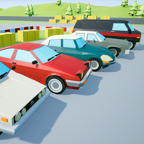 Assets with a low poly style composed of 5 different drivable cars, which you can use in your video game. Different textures have been included to create 20 variations.