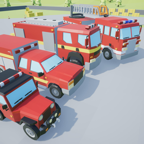 Asset composed by 4 different drivable cars with a lowpoly style, which you can use to include into your video game. Different textures have been included to create 8 variations.