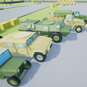 Asset composed by 7 different drivable cars with a lowpoly style, which you can use to include into your video game. Different textures have been included to create 14 variations.