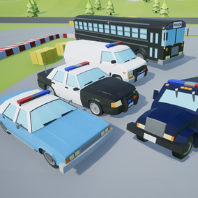 Assets with a low poly style composed of 5 different drivable cars, which you can use in your video game. Different textures have been included to create 14 variations.