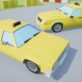 Assets with a low poly style composed of 2 different drivable cars, which you can use in your video game. Different textures have been included to create 2 variations.