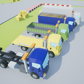 Assets with a low poly style composed of 5 different drivable cars, which you can use in your video game. Different textures have been included to create 42 variations.