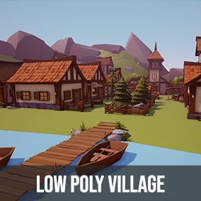 Package contains over 200 models to build your low poly village.