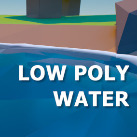 Give your low poly works of art matching low poly water! Comes with free low poly props!