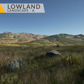 This content includes highly detailed 16 km2 (4x4 km) Lowland landscape.