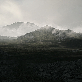 64 Square Kilometers landscape, taking you right into the middle of a dark and unwell land where you can take a lonely walk in the lower parts or go high into the mountains.