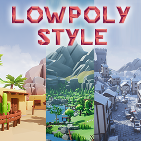 Create stylized desert, woodland, and winter environments with a unique lowpoly look!