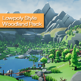 Build your own Mountain or Woodland levels and landscapes with this asset pack or use the huge demoscene!