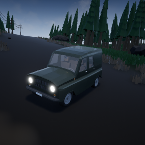 The package from cars in which is used Low poly style, will be suitable for your interesting project!