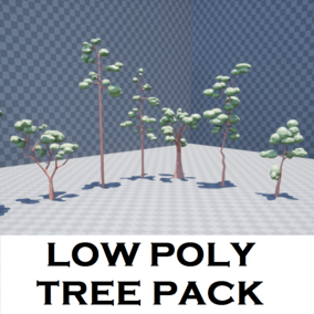 Low poly tree pack, 53 different trees, 14 different rocks