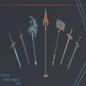 Weapon models with variations.
