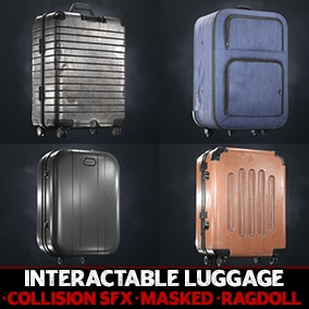 Packed up in a hurry? Cover your world with high-quality luggage, suitcase, and handbag assets.