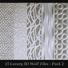 The Second collection of 15 luxurious high quality wall tiles that are optimized for Archviz with 4k Normal maps.