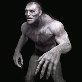 Low-poly game ready model of the character Lycanthrope