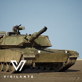 The Vigilante M1A1 Abrams Tank is fitted with a 120 mm smoothbore cannon and features advanced composite armor reinforced with depleted uranium mesh for better protection. Includes desert and forest textures and is fully rigged.