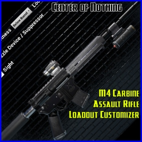 Assemble a multitude of different M4 variations using the fully Blueprinted and editable Loadout Customizer.