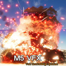 The pack includes realistic smoke effects and big explosion effects using high-resolution loop textures that can be created in a variety of styles.