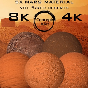 5 Super Realistic Mars Materials for all platforms. All Textures have their own 8K,4K,2K and 1K version and ready for every kind of project.