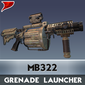 MB322 Grenade Launcher includes all kinds of unique VFX/SFX and Animations.