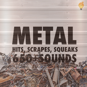 A collection of metal hits, squeaks and scrapes.  Good for weapon, interface and many other interactive or environmental sounds.