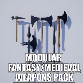 Pack of modular fantasy/medieval weapon components that allow you to create unique weapons!