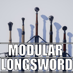 Pack of modular longsword components that allow you to create countless unique swords!