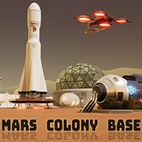 This is game ready extended modular Mars Colony map consists of various structures and vehicles.