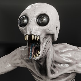 A monster model that is perfect for horror games