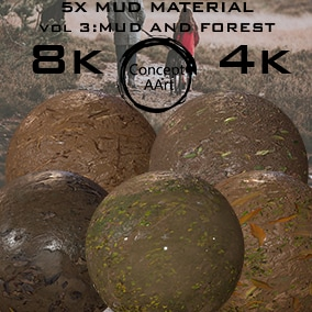 5 Super Realistic Mud Materials for all platforms. All Textures have their own 8K,4K,2K and 1K version and ready for every kind of project.