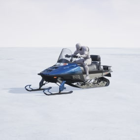Driveable SNOWMOBILE Fully rigged and animated.Multiplayer ready.