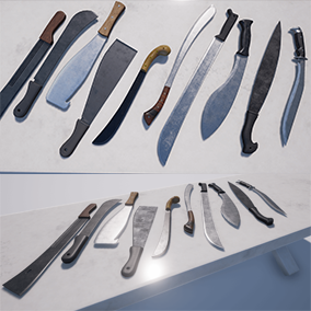 Contains ten high quality, machetes.