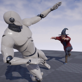 This is a set of 117 motion capture animations for a Mage