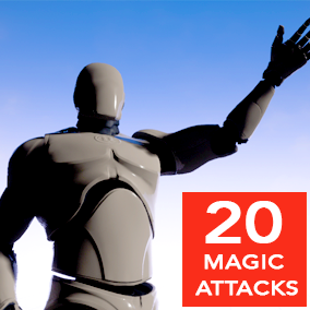 20 Magic Attack Animations for Epic Skeleton.