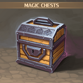 Set of 10 hand drawn Magic chests.