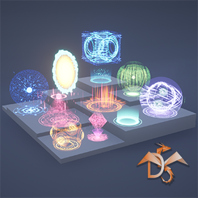 Create an infinite number of your own variants of magic circles, auras, portals, holograms, and more.