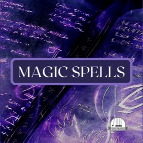 A collection of 140 magic spells including fire, water, ice, thunder, air, healing and curses.